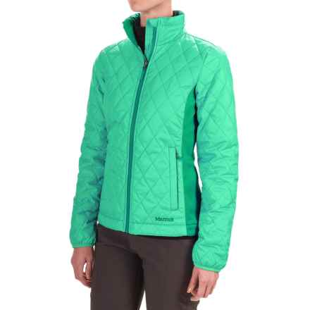 Marmot Kitzbuhel Jacket - Insulated (For Women) in Green Frost/Gem Green - Closeouts