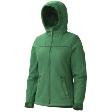 Marmot Lakeside Hoodie Sweatshirt - Fleece (For Women) in Green Nile - Closeouts