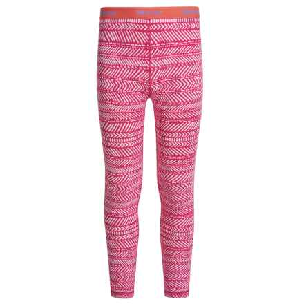 Marmot Lana Base Layer Pants (For Little and Big Girls) in Bright Ruby Arrows - Closeouts