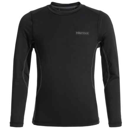Marmot Lana Base Layer Top - Long Sleeve (For Little and Big Girls) in Black - Closeouts