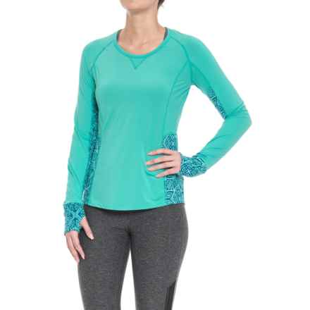 Marmot Lana Shirt - Long Sleeve (For Women) in Waterfall/Frosty - Closeouts