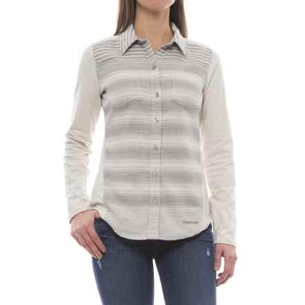 Marmot Lani Flannel CoolMax® Shirt - UPF 50, Long Sleeve (For Women) in Glacier Grey - Closeouts