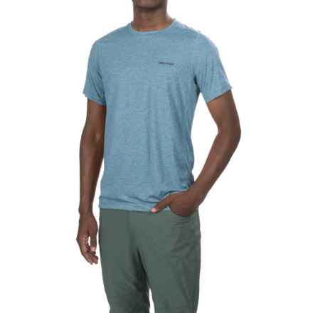 Marmot Lapyx T-Shirt - UPF 25, Short Sleeve (For Men) in Slate Blue Heather - Closeouts