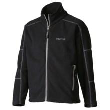 Marmot Lassen Fleece Jacket - Full Zip (For Boys) in Black - Closeouts
