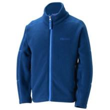 Marmot Lassen Fleece Jacket - Full Zip (For Boys) in Blue Night - Closeouts