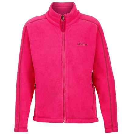 Marmot Lassen Fleece Jacket - Zip Front (For Girls) in Gypsy Pink - Closeouts