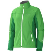Marmot Leadville Jacket - Windstopper®, Soft Shell (For Women) in Bight Grass/Dark Fern - Closeouts