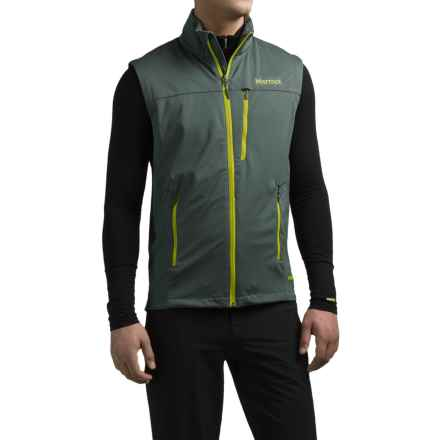 Marmot Leadville Soft Shell Gore-Tex® Vest - Waterproof (For Men) in Dark Zinc - Closeouts