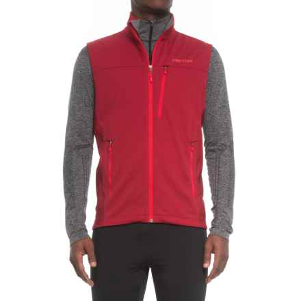 Marmot Leadville Soft Shell Vest - Windstopper® (For Men) in Brick - Closeouts