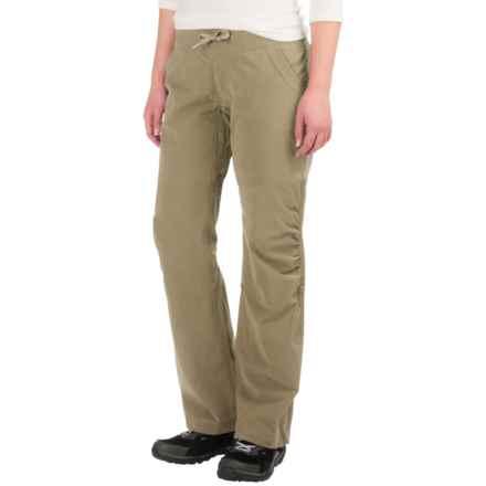 Marmot Leah Pants - Stretch Cotton, UPF 30 (For Women) in Desert Khaki - Closeouts