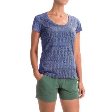 Marmot Logan T-Shirt - UPF 30, Short Sleeve (For Women) in Dusty Denim Lilly - Closeouts