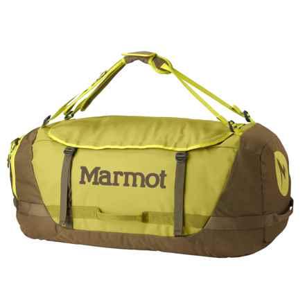 Marmot Long Hauler Duffel Bag- Large in Dark Citron/Dark Olive - Closeouts