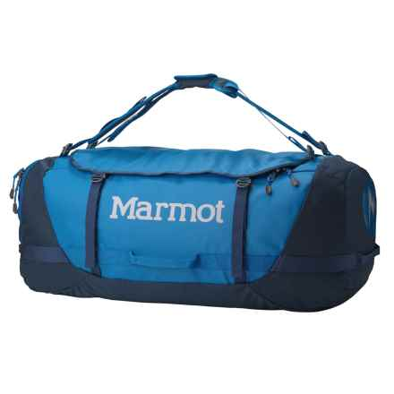 Marmot Long Hauler Duffel Bag- Large in Peak Blue/Vintage Navy - Closeouts