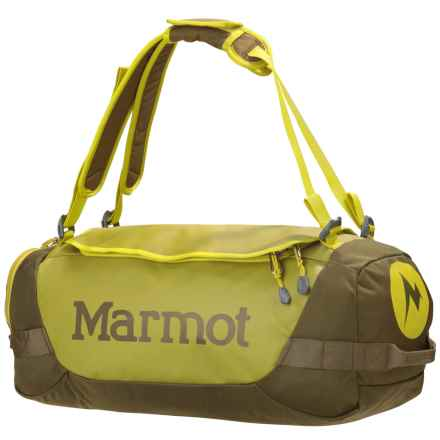 Marmot Long Hauler Duffel Bag - Small in Dark Citron/Dark Olive - Closeouts