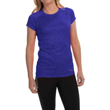 Marmot Moisture-Wicking Shirt -UPF 50, Short Sleeve (For Women) in Astral Blue Vapor - Closeouts