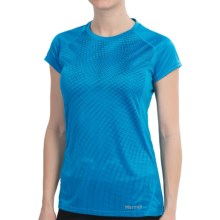 Marmot Moisture-Wicking Shirt -UPF 50, Short Sleeve (For Women) in Atomic Blue - Closeouts
