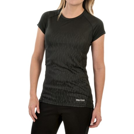 Marmot Moisture-Wicking Shirt -UPF 50, Short Sleeve (For Women) in Black Vapor
