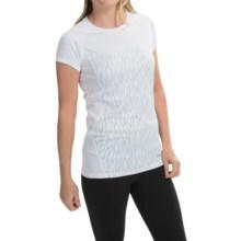 Marmot Moisture-Wicking Shirt -UPF 50, Short Sleeve (For Women) in White Vapor - Closeouts