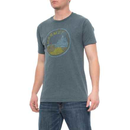 fdd5c6d3a68b07 Marmot Monas T-Shirt - Short Sleeve (For Men) in Jade Black Heather