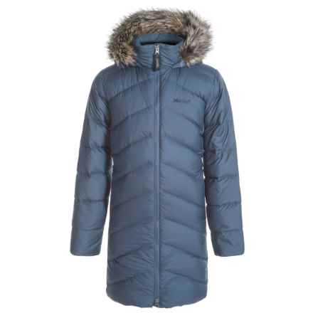 Marmot Montreaux Down Coat - 700 Fill Power (For Little and Big Girls) in Storm Cloud - Closeouts