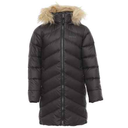 Marmot Montreaux Down Coat - 700 Fill Power (For Little and Big Girls) in True Black - Closeouts