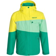 Marmot Moonstruck Ski Jacket - Waterproof, Insulated (For Little and Big Girls) in Gem Green/Green Frost - Closeouts