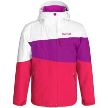 Marmot Moonstruck Ski Jacket - Waterproof, Insulated (For Little and Big Girls) in Pink Rock/Beet Purple - Closeouts
