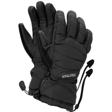 Marmot Moraine Gloves - Waterproof, Insulated (For Women) in Black - Closeouts