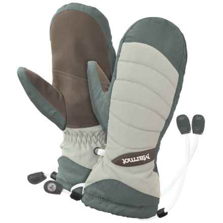 Marmot Moraine Mittens - Waterproof, Insulated (For Women) in Glacier Grey - Closeouts