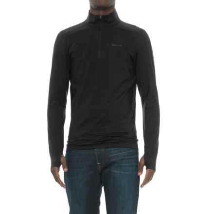 Marmot Morph Zip Neck Base Layer Top - Long Sleeve (For Men) in Black - Closeouts