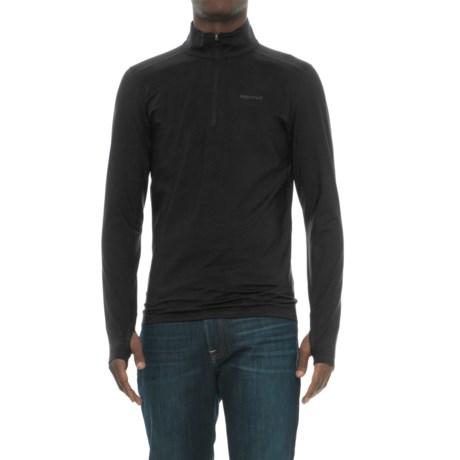 Marmot Morph Zip Neck Base Layer Top - Long Sleeve (For Men) in Black