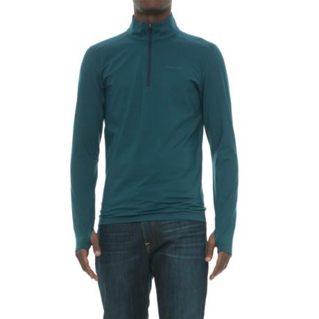 Marmot Morph Zip Neck Base Layer Top - Long Sleeve (For Men) in Denim