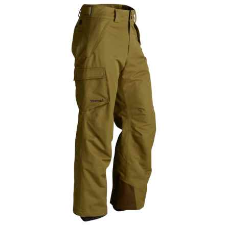 Marmot Motion Snow Pants - Waterproof, Insulated (For Men) in Brown Moss - Closeouts