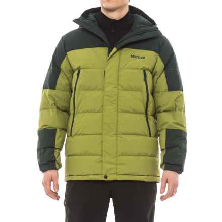 Marmot Mountain Down Jacket - 700 Fill Power (For Men) in Cilantro/Dark Spruce - Closeouts