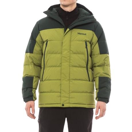 Marmot Mountain Down Jacket - 700 Fill Power (For Men) in Cilantro/Dark Spruce