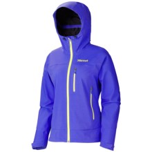 Marmot Nabu Soft Shell Jacket - Waterproof (For Women) in Electric Blue - Closeouts