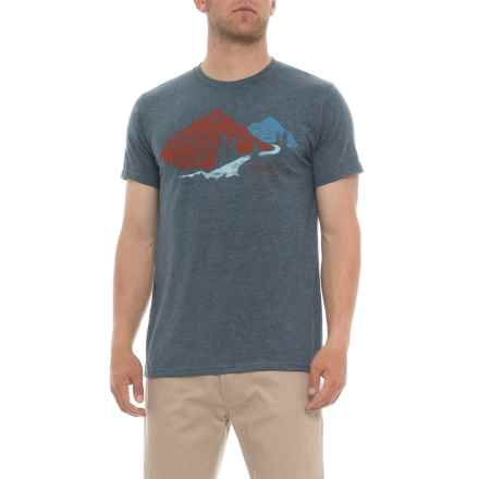Marmot Navy Heather Tread Lightly T-Shirt - Short Sleeve (For Men) in Navy Heather - Closeouts