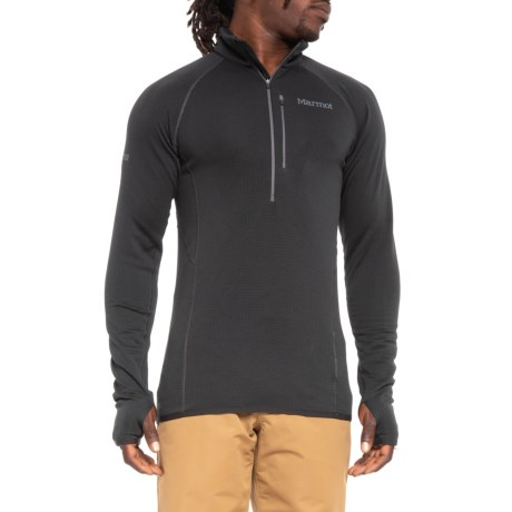 Marmot Neothermo Polartec® Power Grid® Shirt - Zip Neck, Long Sleeve (For Men) in Black