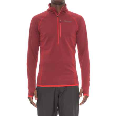 Marmot Neothermo Polartec® Power Grid® Shirt - Zip Neck, Long Sleeve (For Men) in Brick - Closeouts