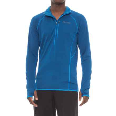 Marmot Neothermo Polartec® Power Grid® Shirt - Zip Neck, Long Sleeve (For Men) in Dark Cerulean - Closeouts