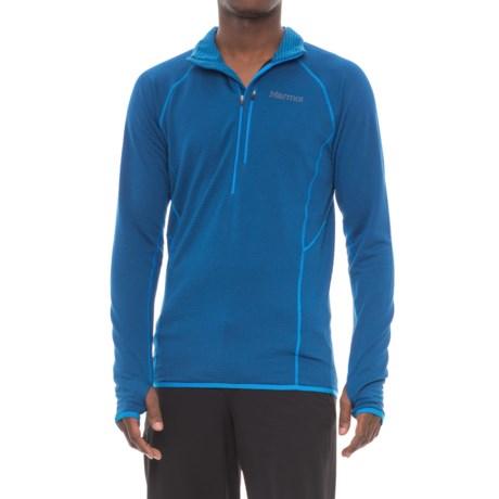 Marmot Neothermo Polartec® Power Grid® Shirt - Zip Neck, Long Sleeve (For Men) in Dark Cerulean