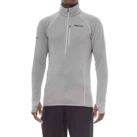 Marmot Neothermo Polartec® Power Grid® Shirt - Zip Neck, Long Sleeve (For Men) in Grey Storm - Closeouts