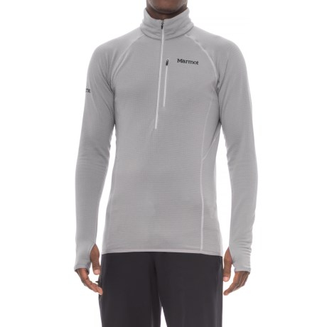 Marmot Neothermo Polartec® Power Grid® Shirt - Zip Neck, Long Sleeve (For Men) in Grey Storm