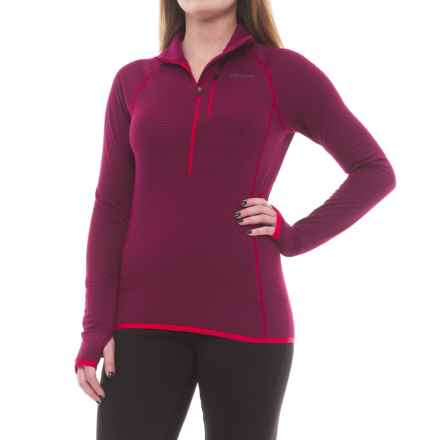 Marmot Neothermo Polartec® Power Grid® Shirt - Zip Neck, Long Sleeve (For Women) in Red Dahlia - Closeouts