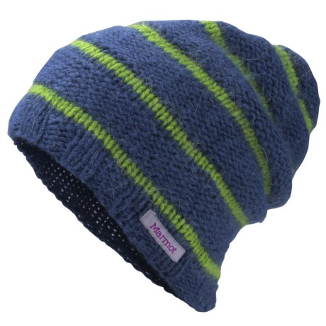 Marmot Newton Beanie Hat - Angora-Wool Blend (For Women) in Blue Ink