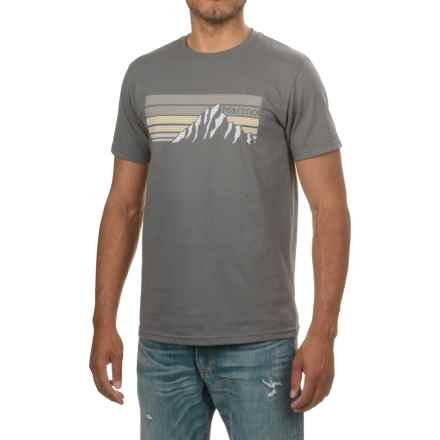 Marmot Norse T-Shirt - Organic Cotton, Short Sleeve (For Men) in Charcoal - Closeouts