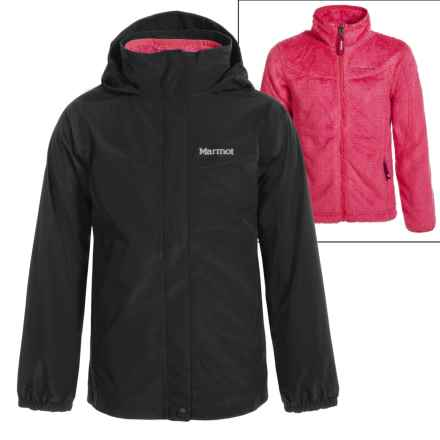 Marmot Northshore 3-in-1 Jacket - Waterproof (For Little and Big Girls) in True Black - Closeouts