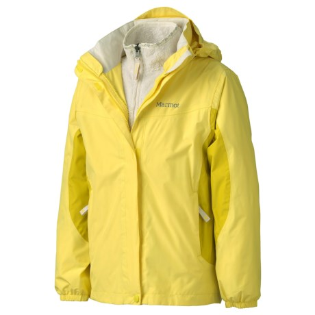 Marmot Northshore Jacket -Waterproof, 3-in-1 (For Girls) in Sunlight/Yellow Vapor