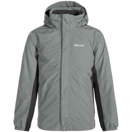 Marmot Northshore MemBrain® Jacket - Waterproof, 3-in-1 (For Little and Big Boys) in Grey Storm/Slate Grey - Closeouts