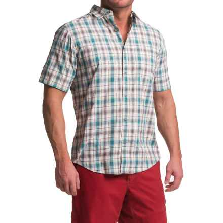 Marmot Northside Shirt - UPF 50, Short Sleeve (For Men) in Arctic Ocean - Closeouts